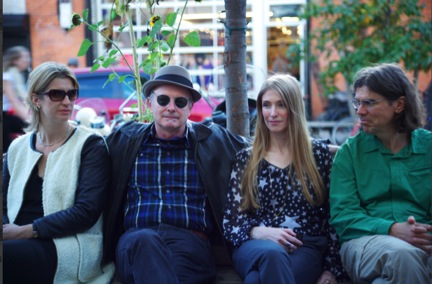 The Amygdaloids, circa 2013.  From left, Amanda Thorpe, Joe LeDoux, Daniela Schiller, and Tyler Volk