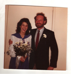 Joe and Nancy Princenthal on their wedding day, February 26, 1982