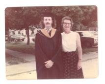 Joe with his mother, Pris LeDoux. Graduation day, June 1971, LSU