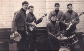 The Countdowns.  This was Joe's high school band in 1964 (Joe is the second from the left)