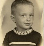 Young Joe, probably 3 years old, roughly 1952