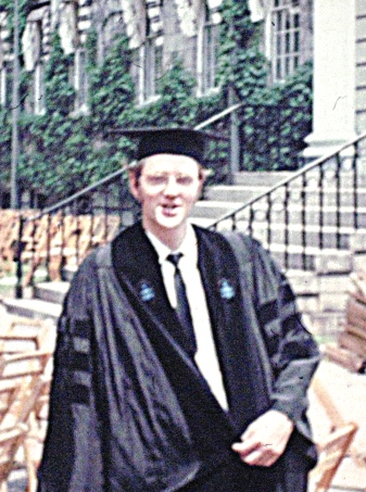 Klaus in Harvard yard 1970, graduation day