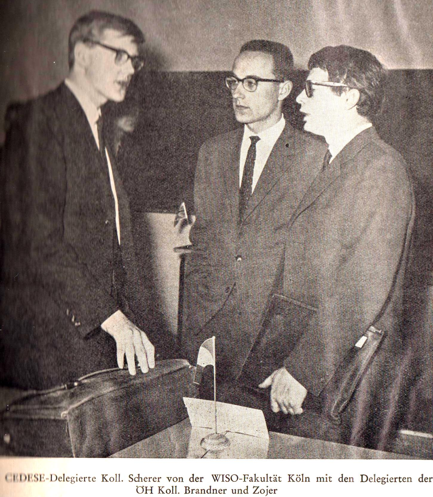 Young Klaus as General Secretary of the European Economics Student Association, 1963