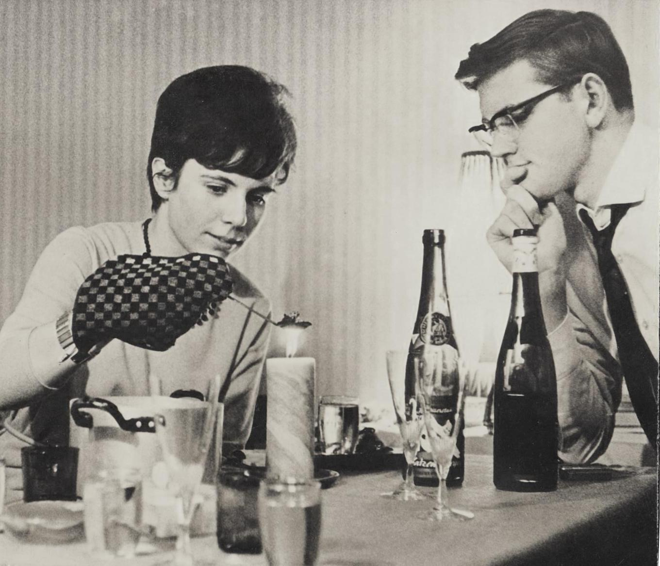 with wife Ursula at New Years eve 1963