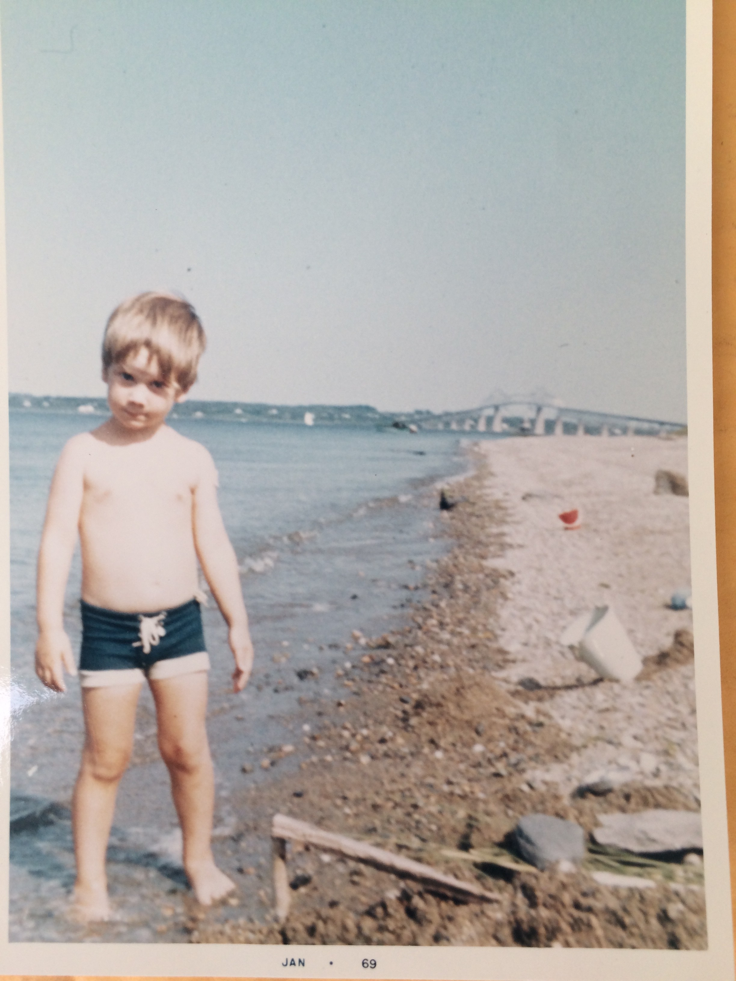 Justin on the beach, circa 1967